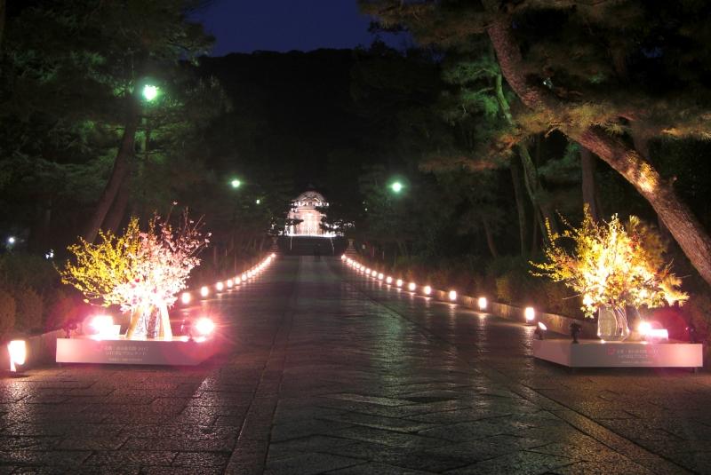 「東山花灯路」2017が3月3日から開催します。
